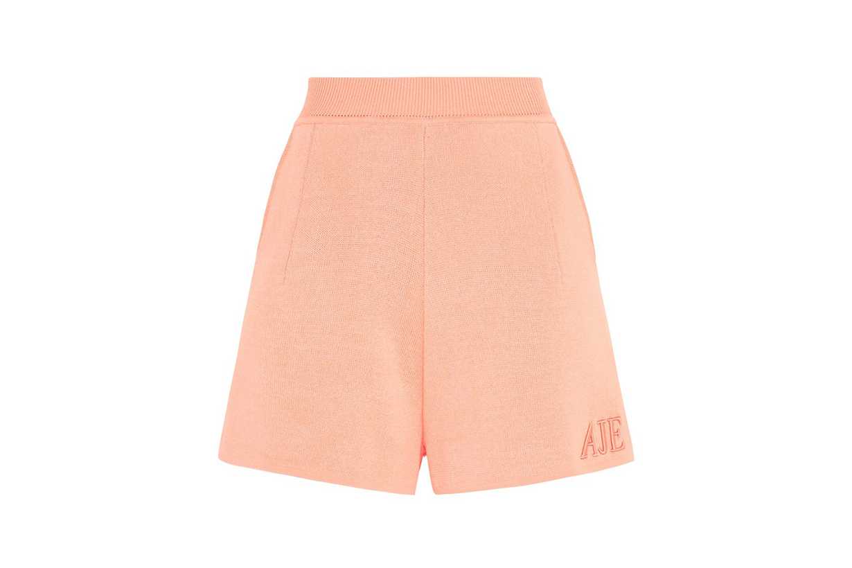 Aje Lucia Logo Embroidered Shorts