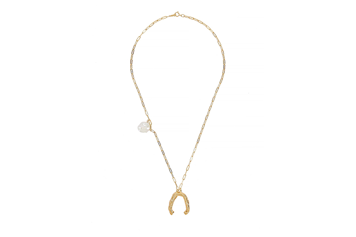 ALIGHIERI The Flashback River 24kt gold-plated necklace