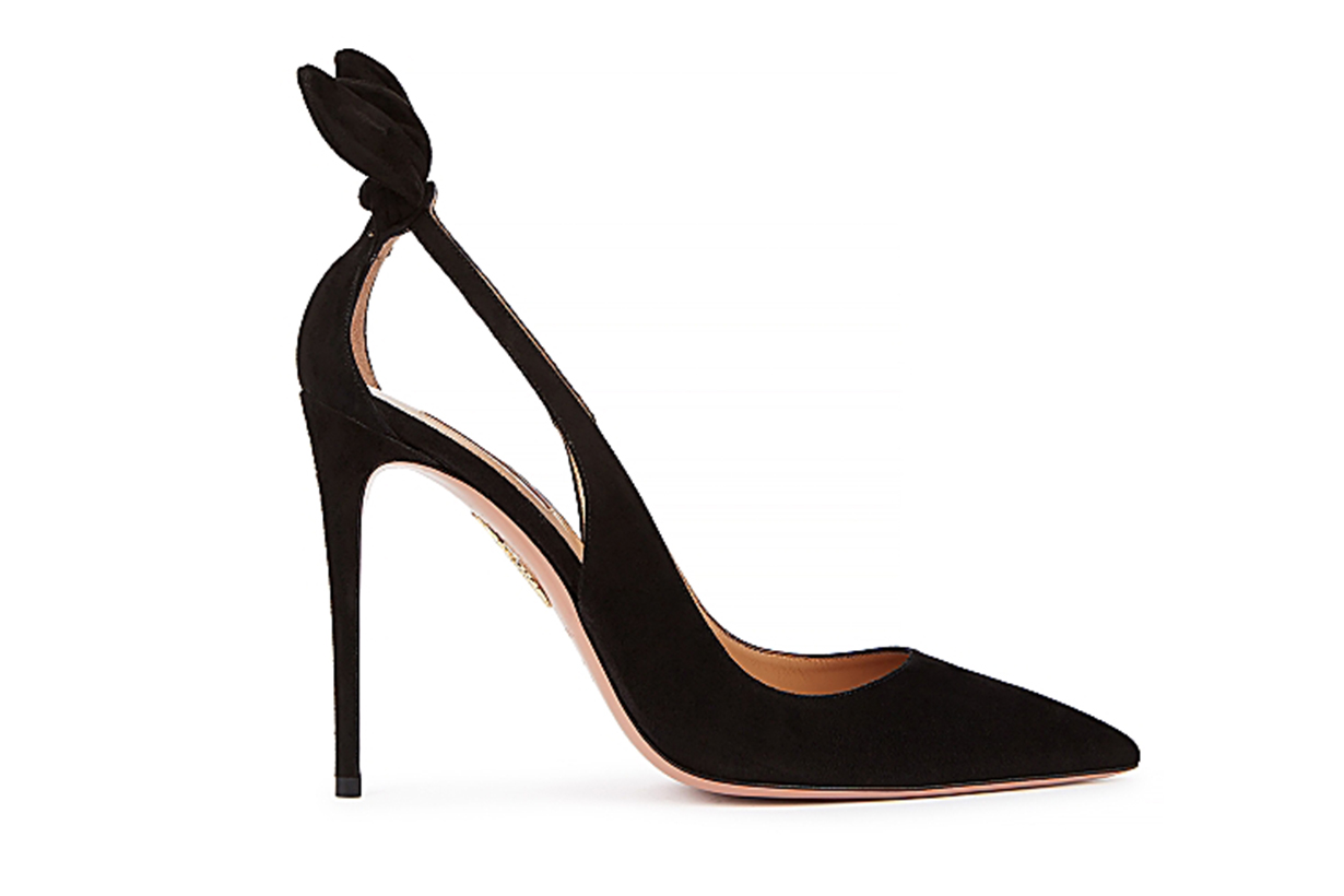 AQUAZZURA Deneuve 105 black suede pumps