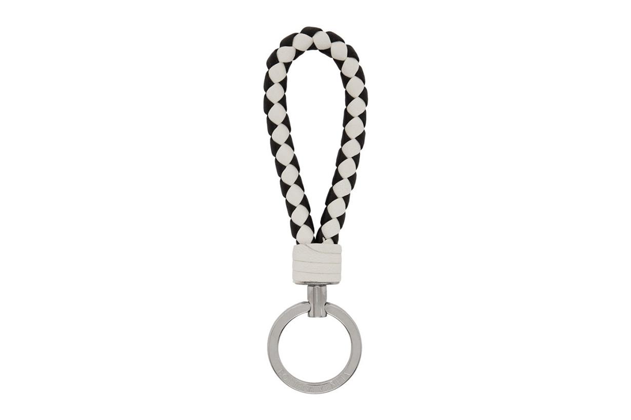 Black & White Bicolor Intrecciato Loop