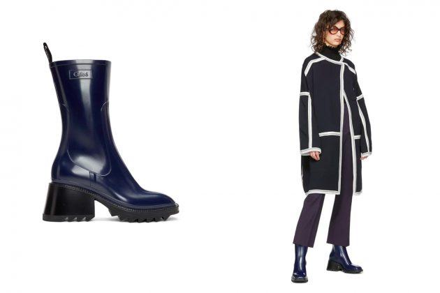 chloe ssense rain boots zipper summer stylish