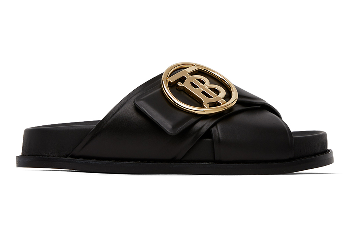 Burberry Black Monogram Sandals