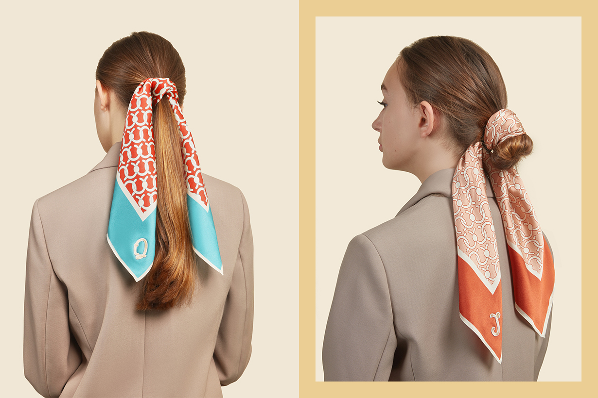 C-Lock Silk Scarf Hair Accessories