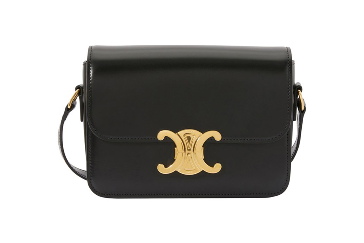 CELINE Teen Triomphe bag in polished calfskin
