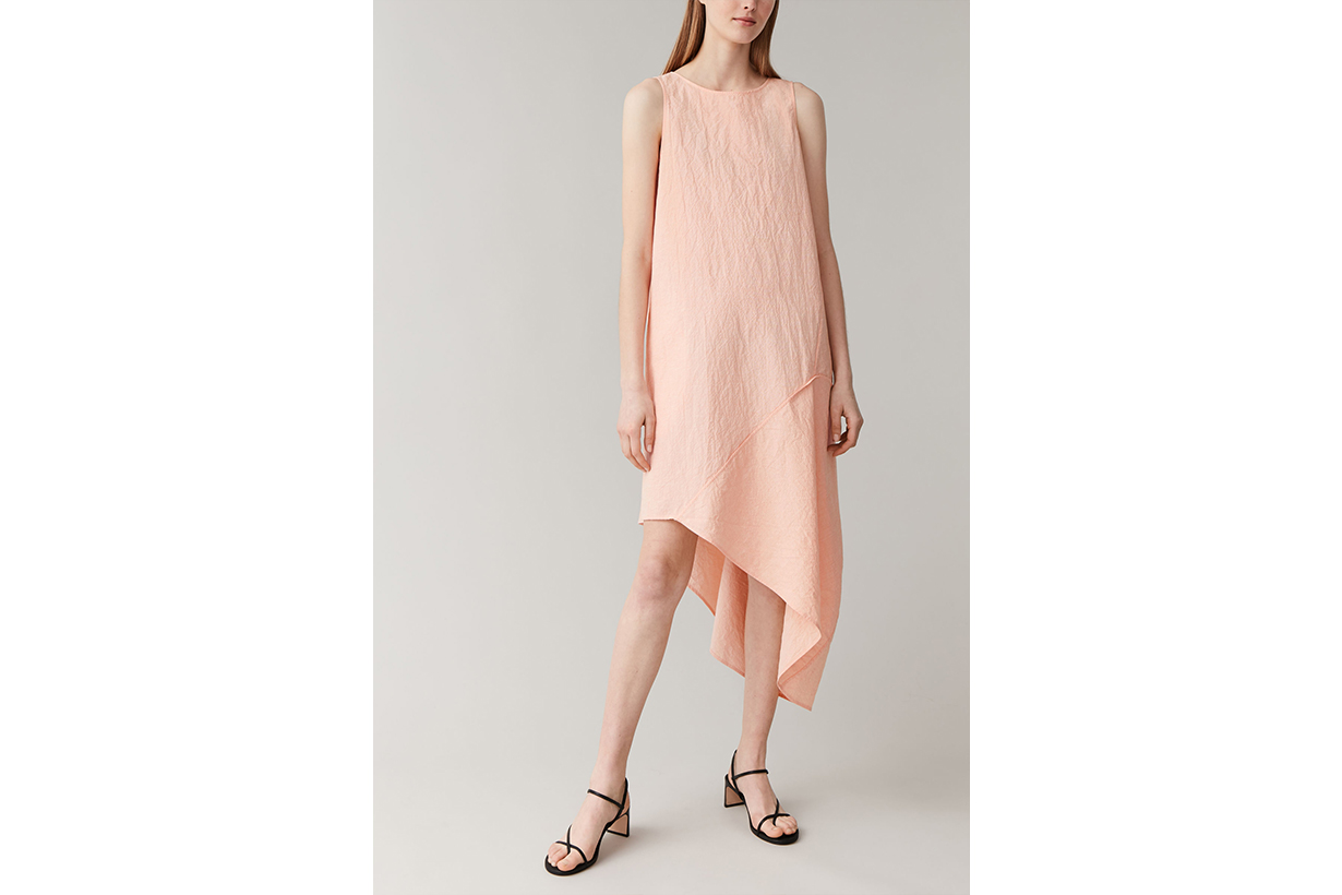 COTTON-LINEN ASYMMETRIC DRESS