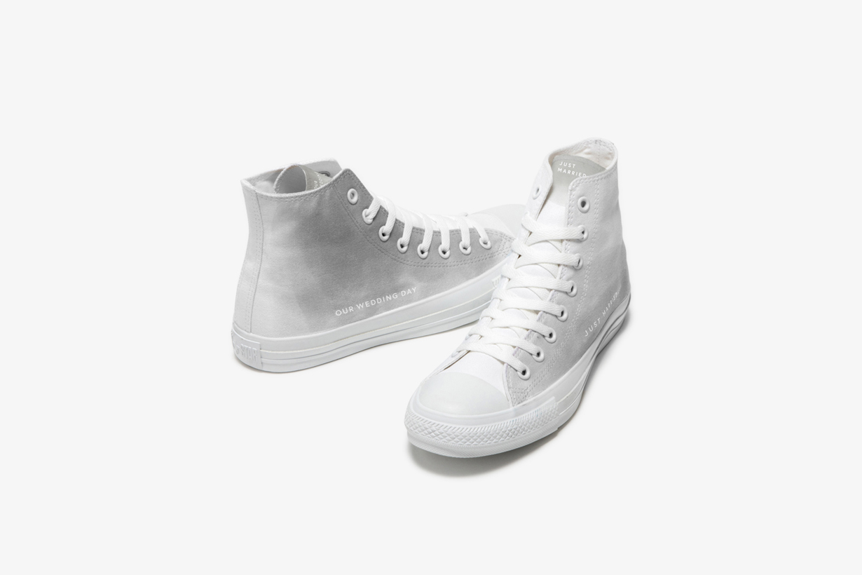 converse Japan white atelier chucky Taylor all star hi wedding custom sneakers shoes