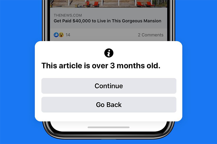 facebook old news alert function