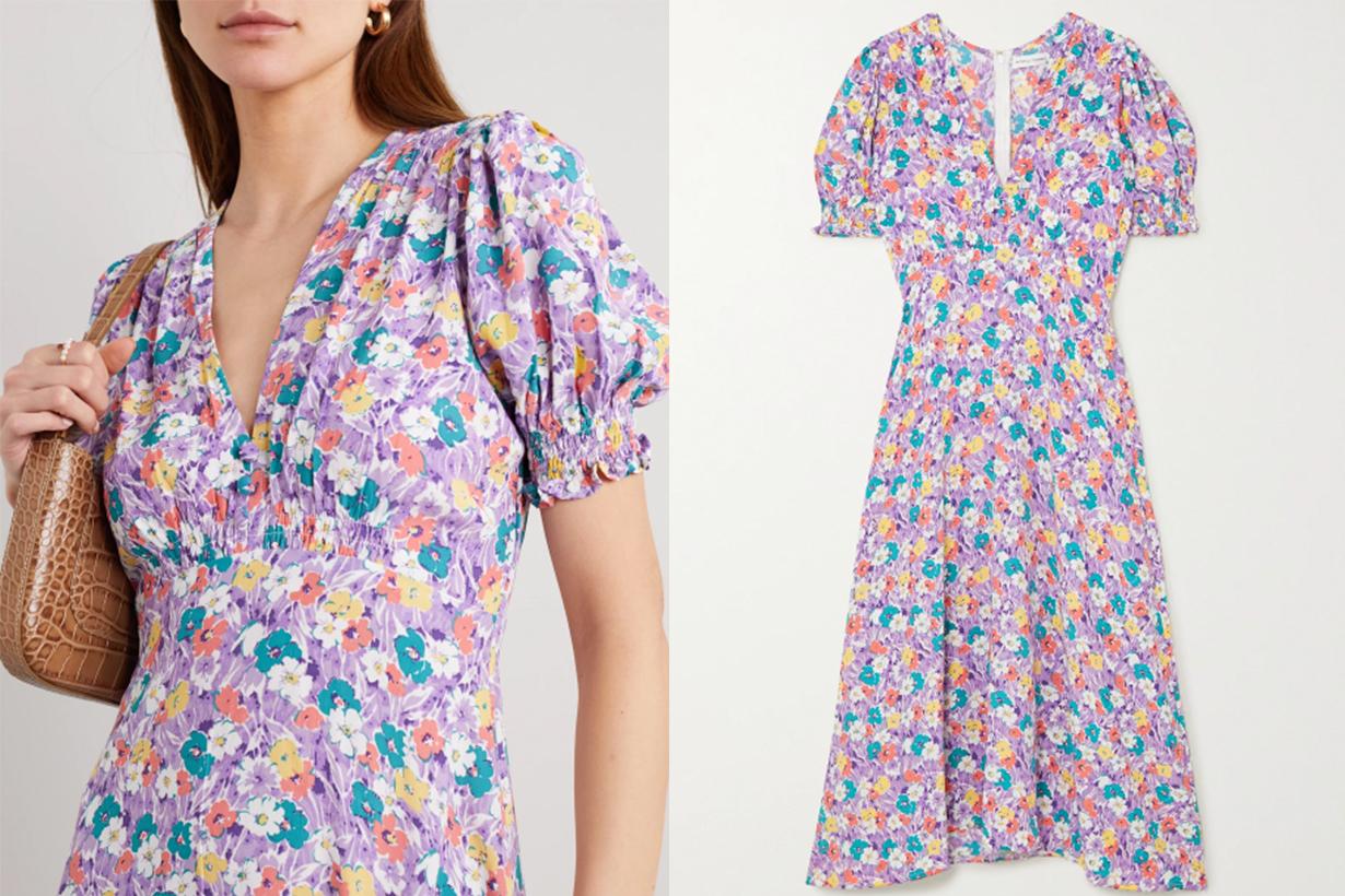 FAITHFULL THE BRAND Marie-Louise Floral-print Crepe Midi Dress