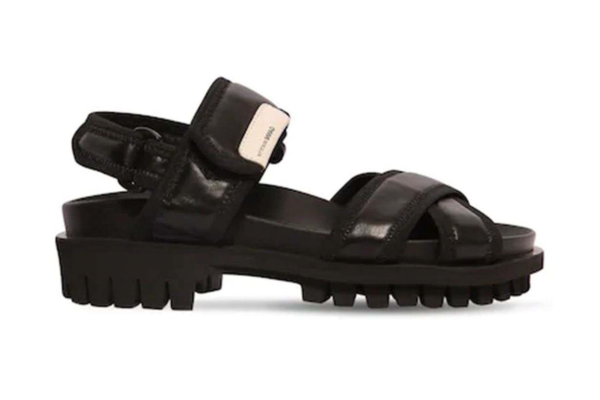 GANNI 30MM LEATHER HIKING SANDALS