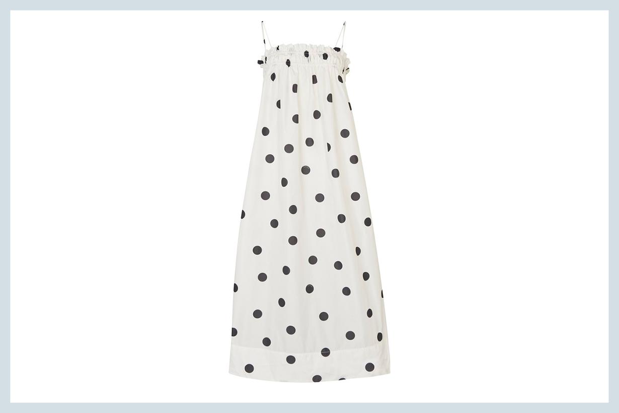 GANNI Smocked dress