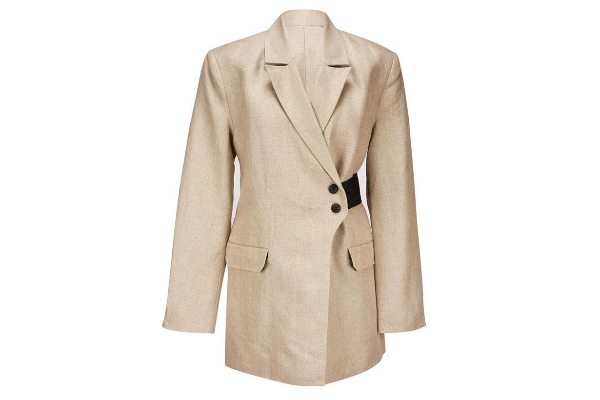 GANNI Linen blazer