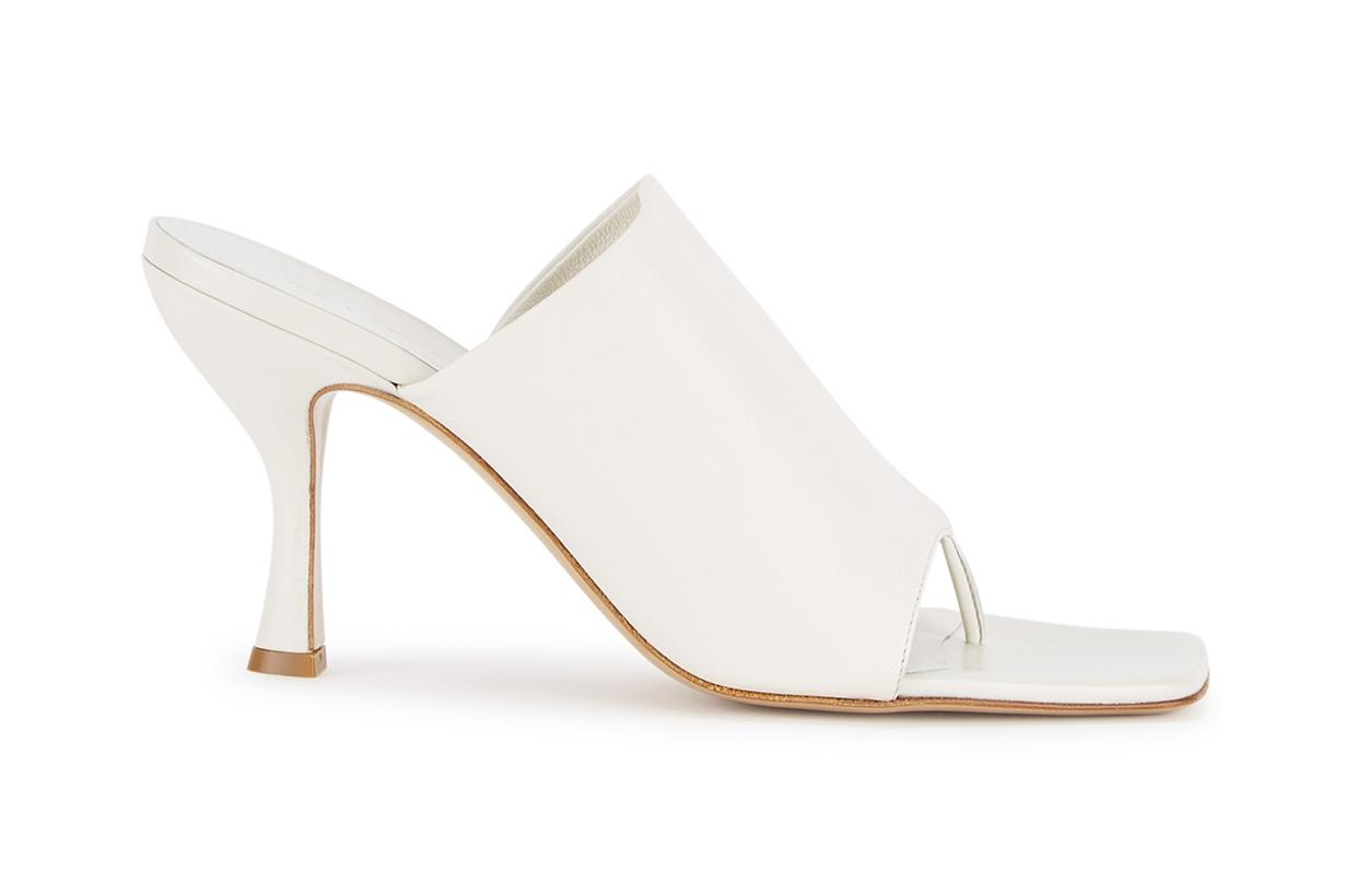 GIA X PERNILLE TEISBAEK 80 white leather mules