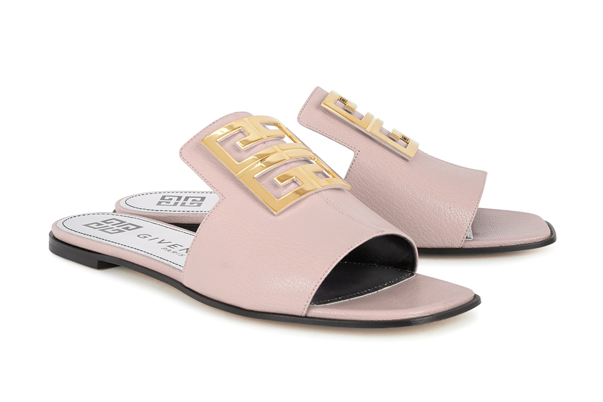 Givenchy 4G Blush leather sliders