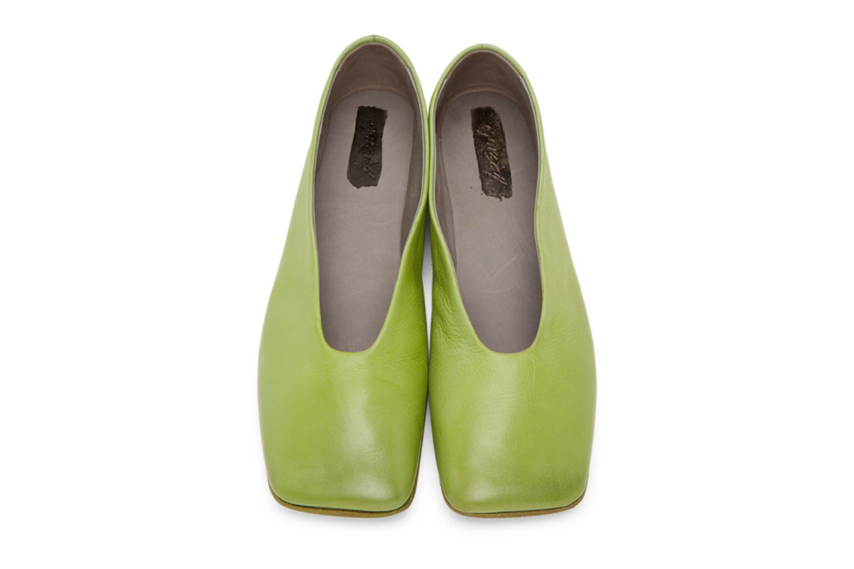 Green Square Spatolona Ballerina Flats