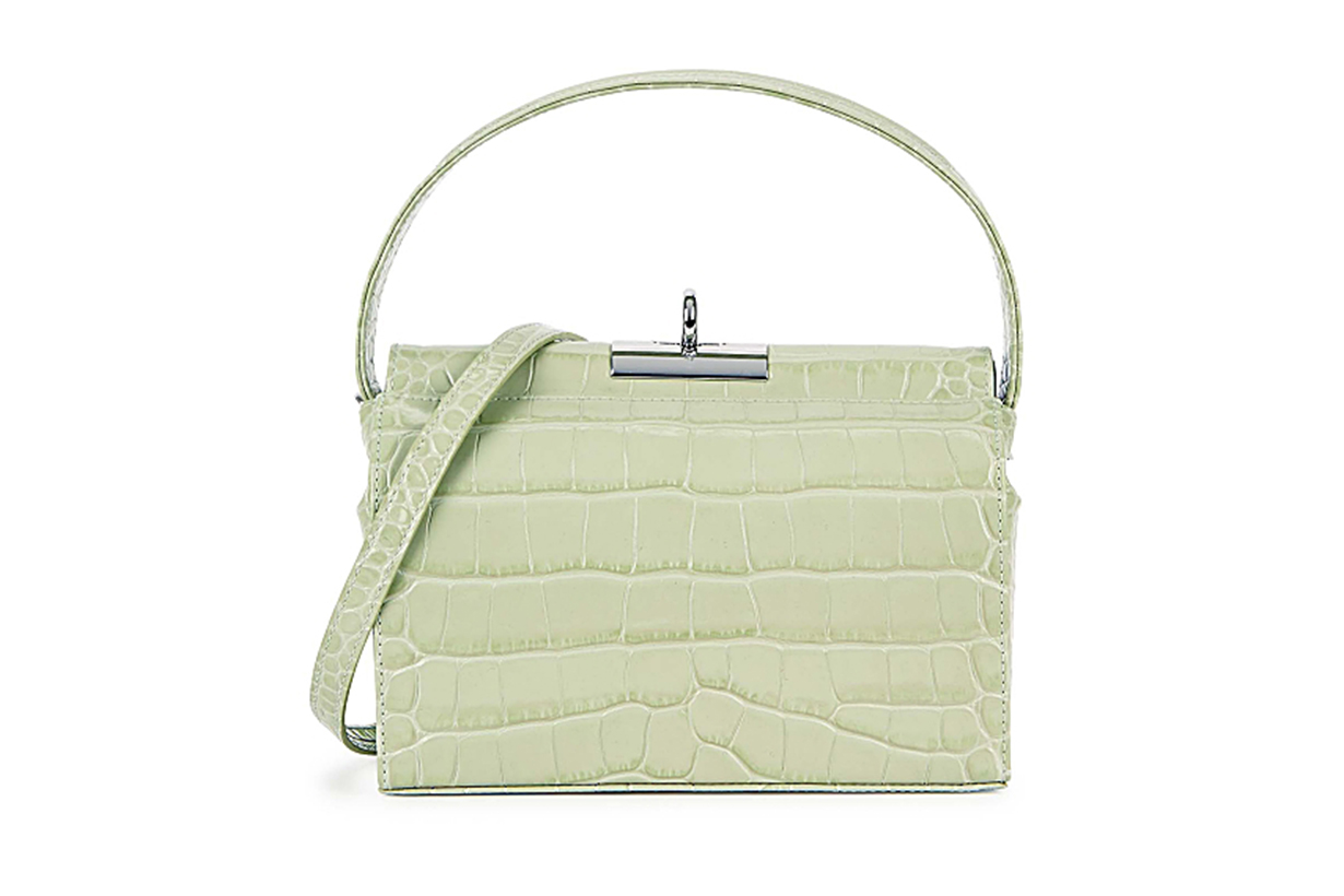 GU_DE Milky crocodile-effect leather shoulder bag