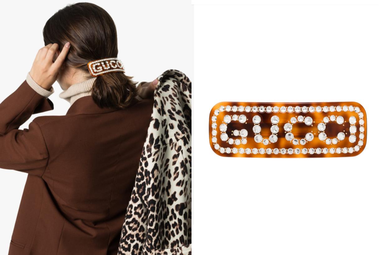 Gucci Crystal Gucci Hair Clip