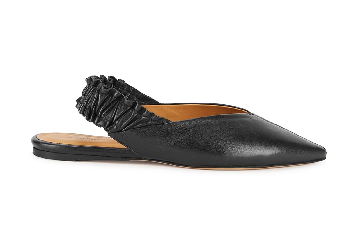 ISABEL MARANT Linta black leather flats
