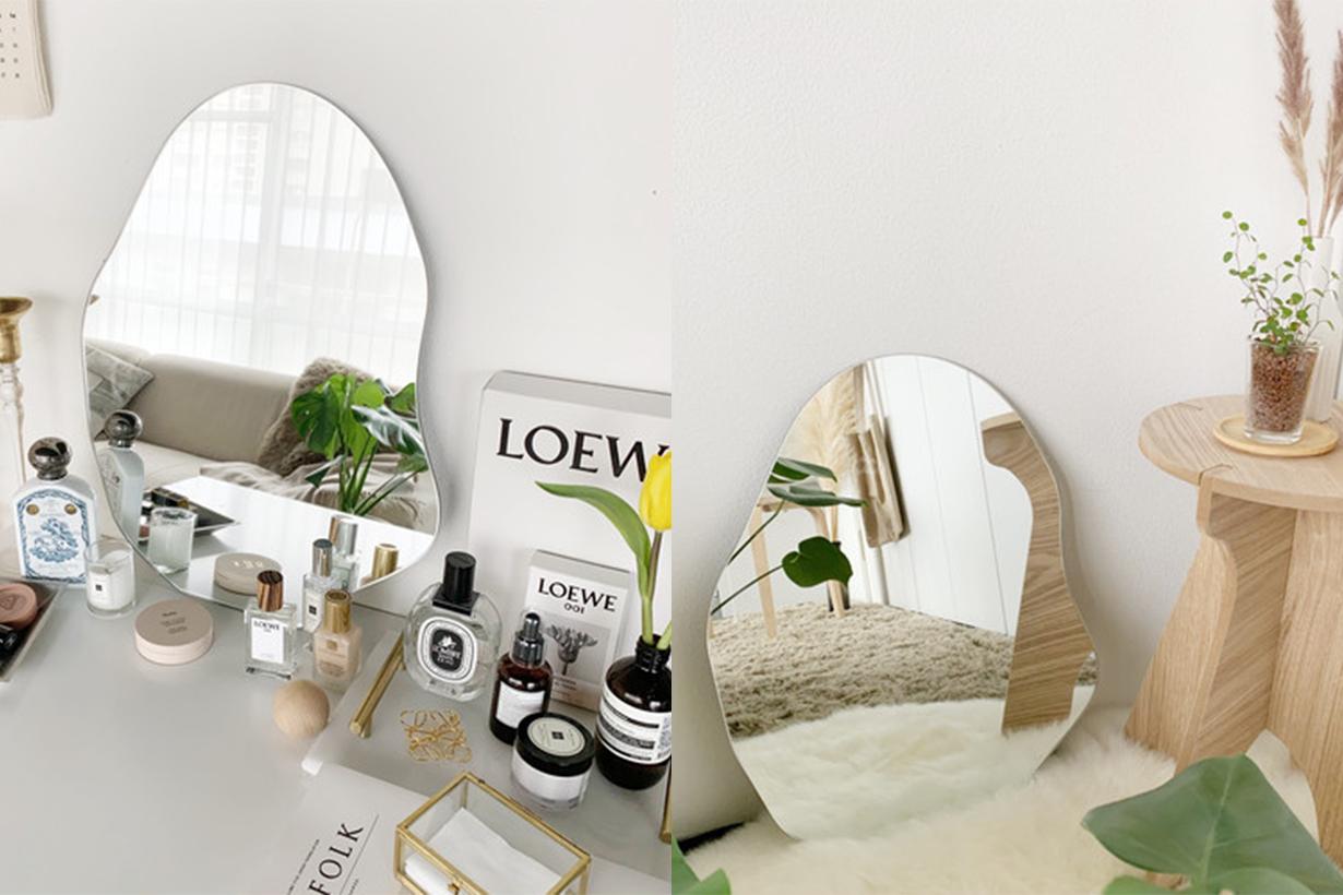 Bedroom decoration deformed mirror trend 2020 summer japanese korean girls trend instagram hit