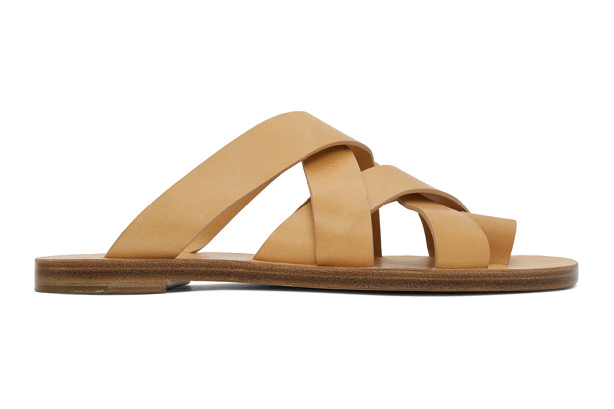 Jil Sander Tan Multi Strap Sandals