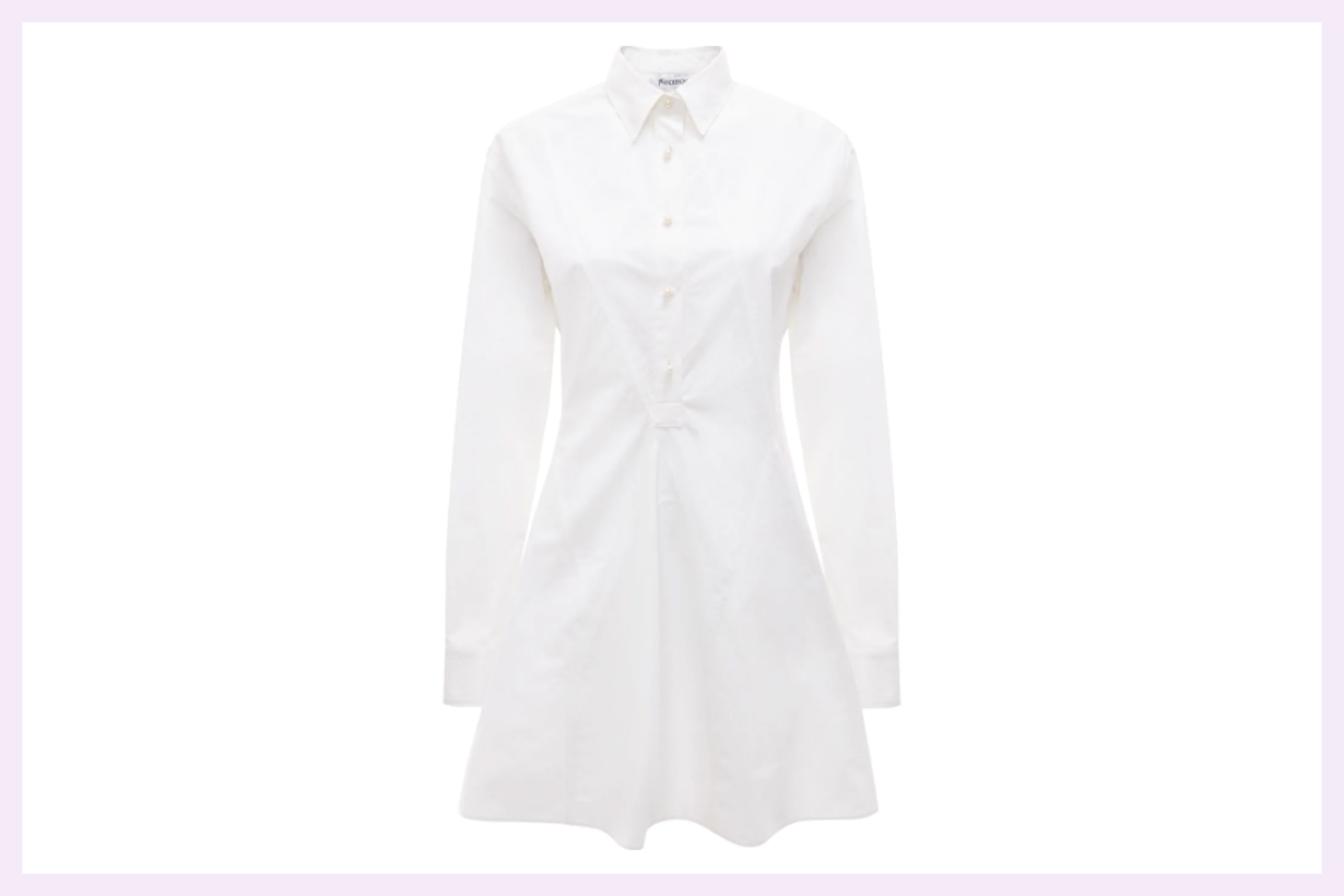 JW Anderson godet-hem shirt-dress