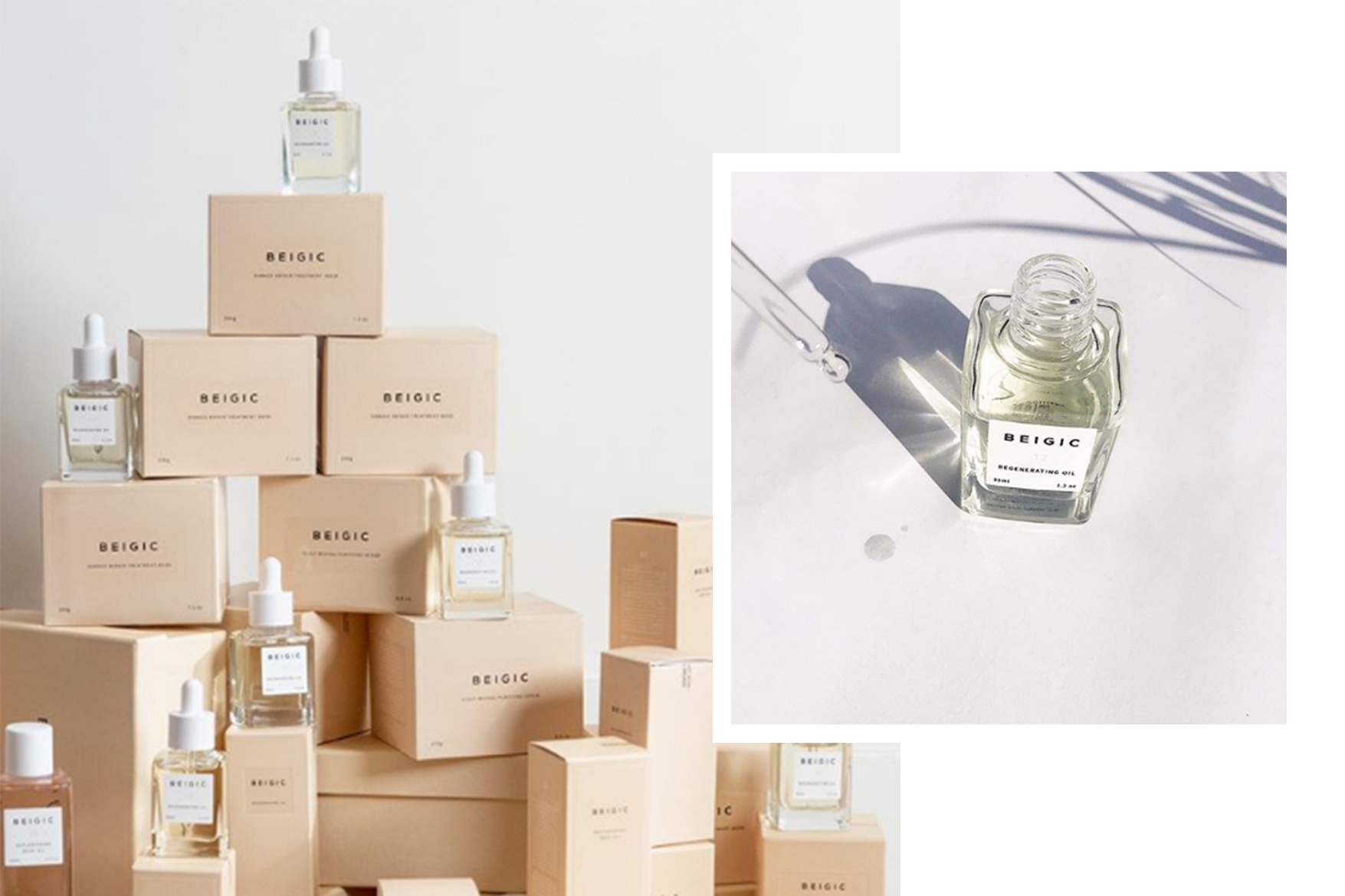 korean vegan indie skincare brand BEIGIC