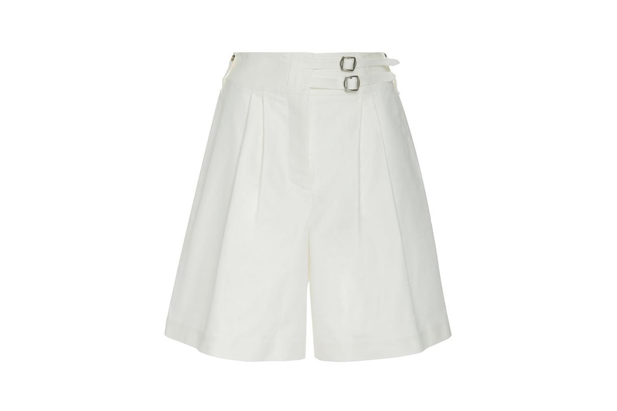 Lanvin Belted Cotton Wide-Leg Shorts