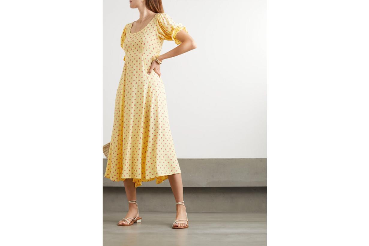 Linnie floral-print crepe midi dress