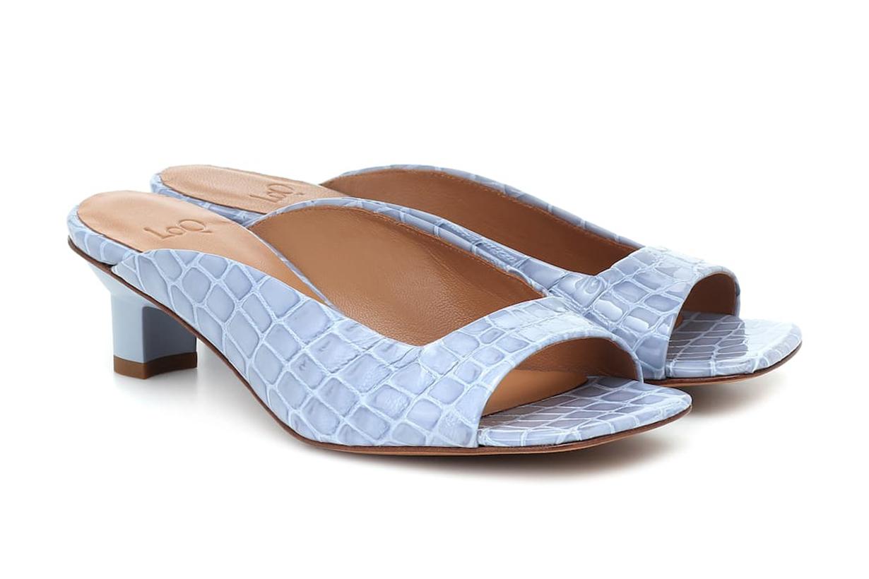 LOQ Parma croc-effect leather sandals