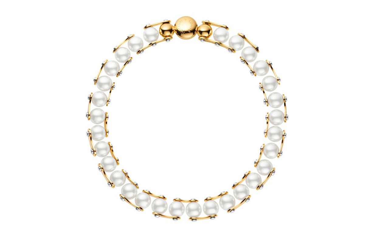 LV Speedy Pearls One rank Necklace