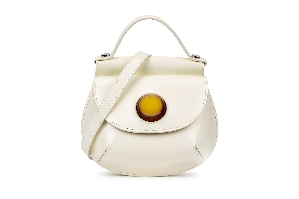 MARNI Cyclops white leather cross-body bag