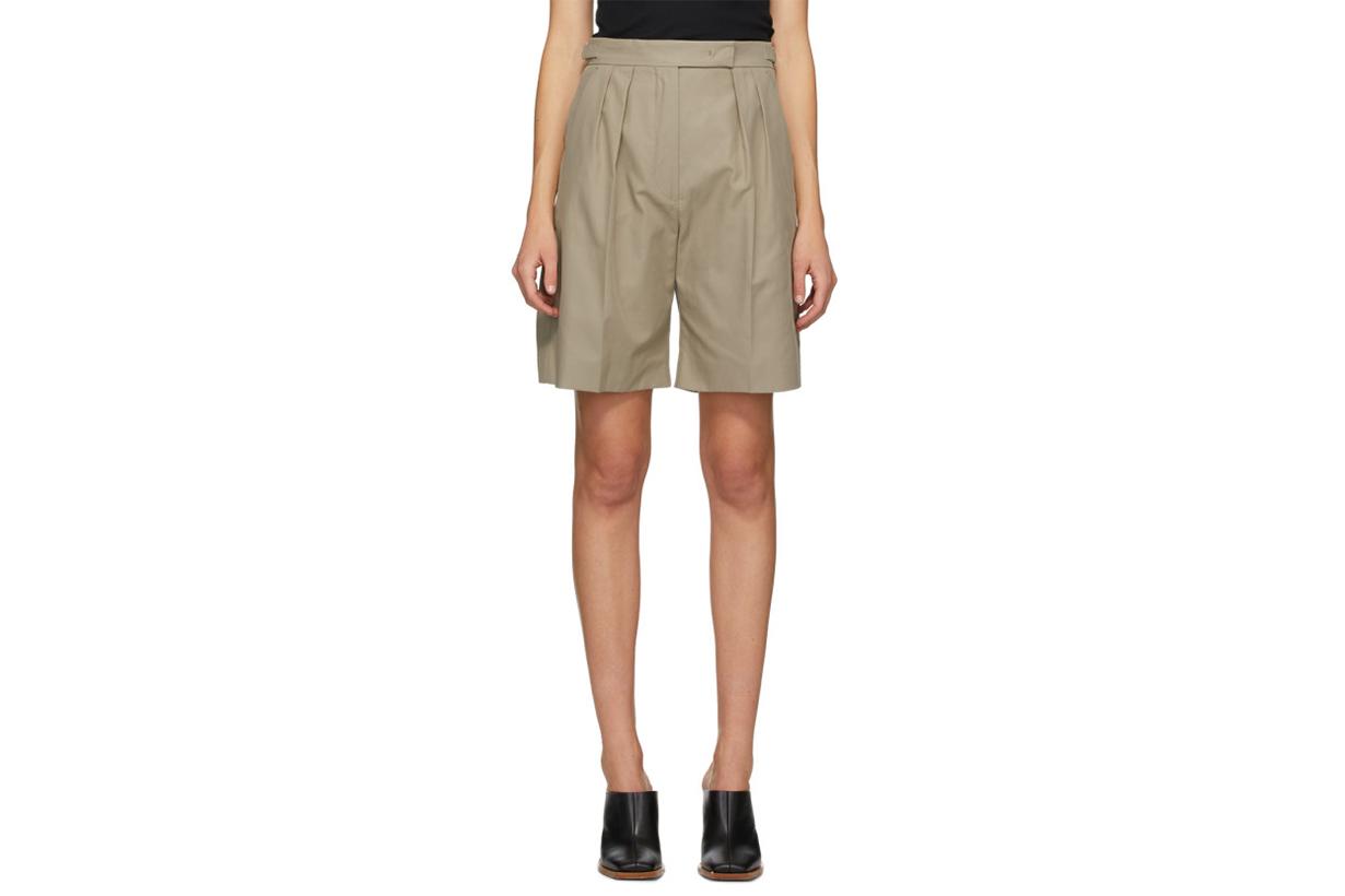 Max Mara Beige Safari Shorts