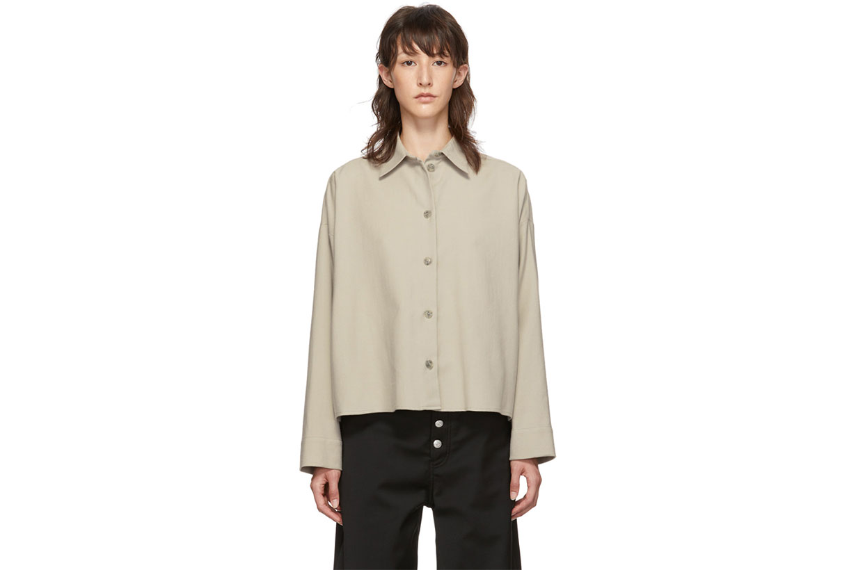 MM6 Maison Margiela Beige Boxy Shirt
