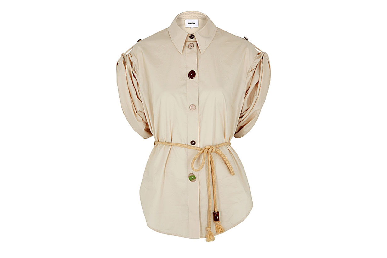 NANUSHKA Tammi off-white stretch-cotton shirt