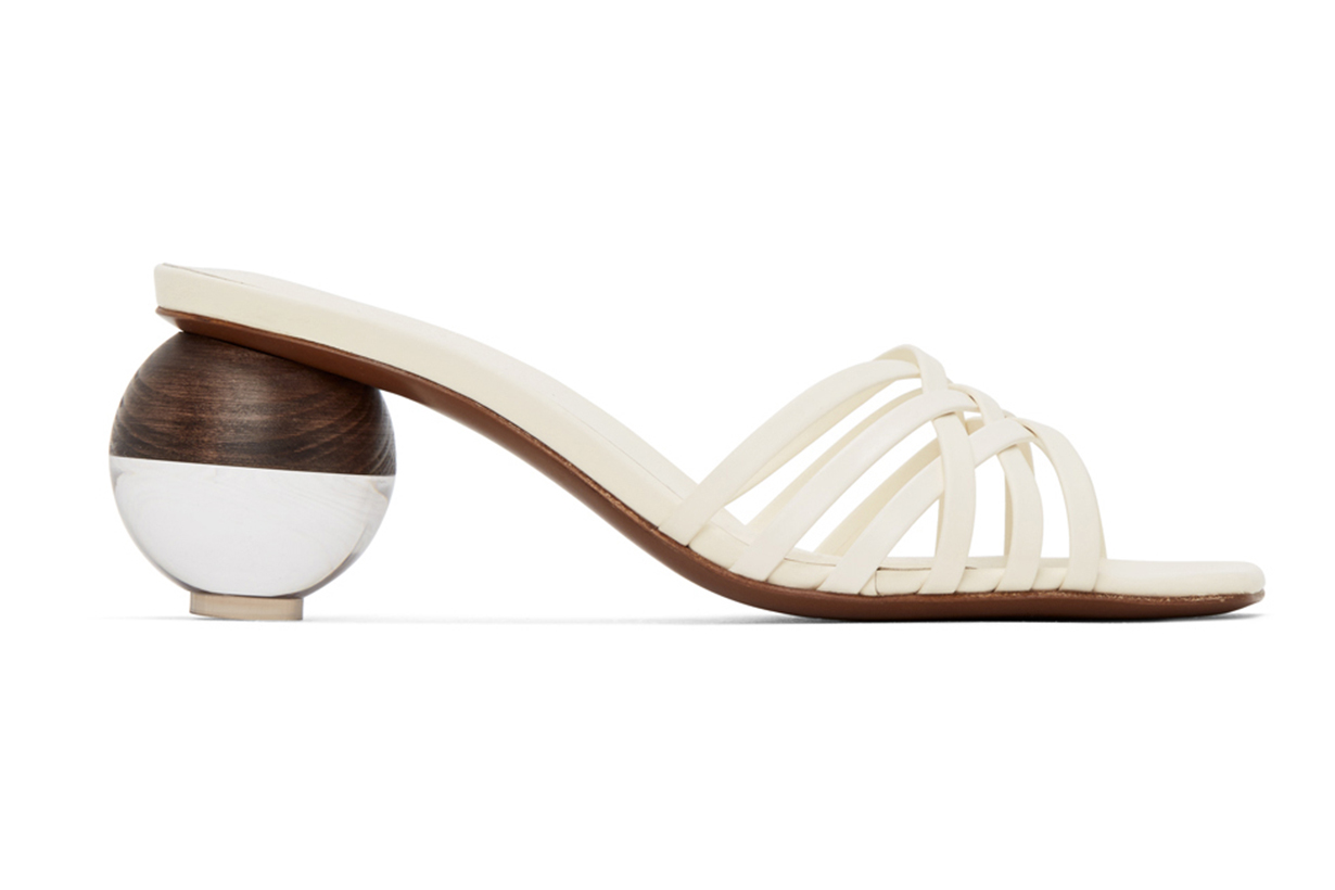 NEOUS Off-White Calpa 55 Heeled Sandals