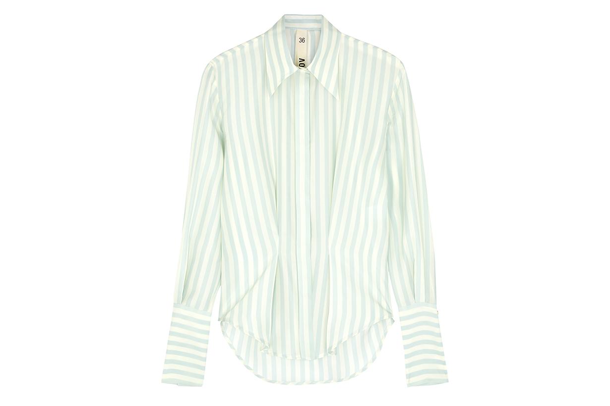PETAR PETROV Chablis striped silk shirt