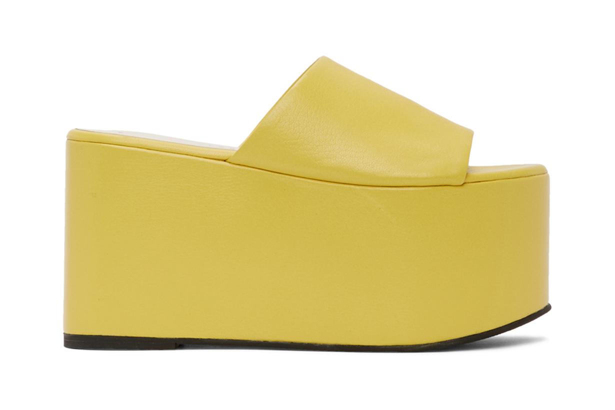 Simon Miller Yellow Blackout Platform Sandals