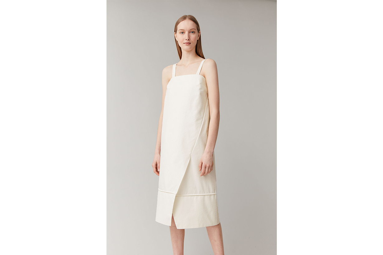 SLEEVELESS MID-LENGTH COTTON DRESS