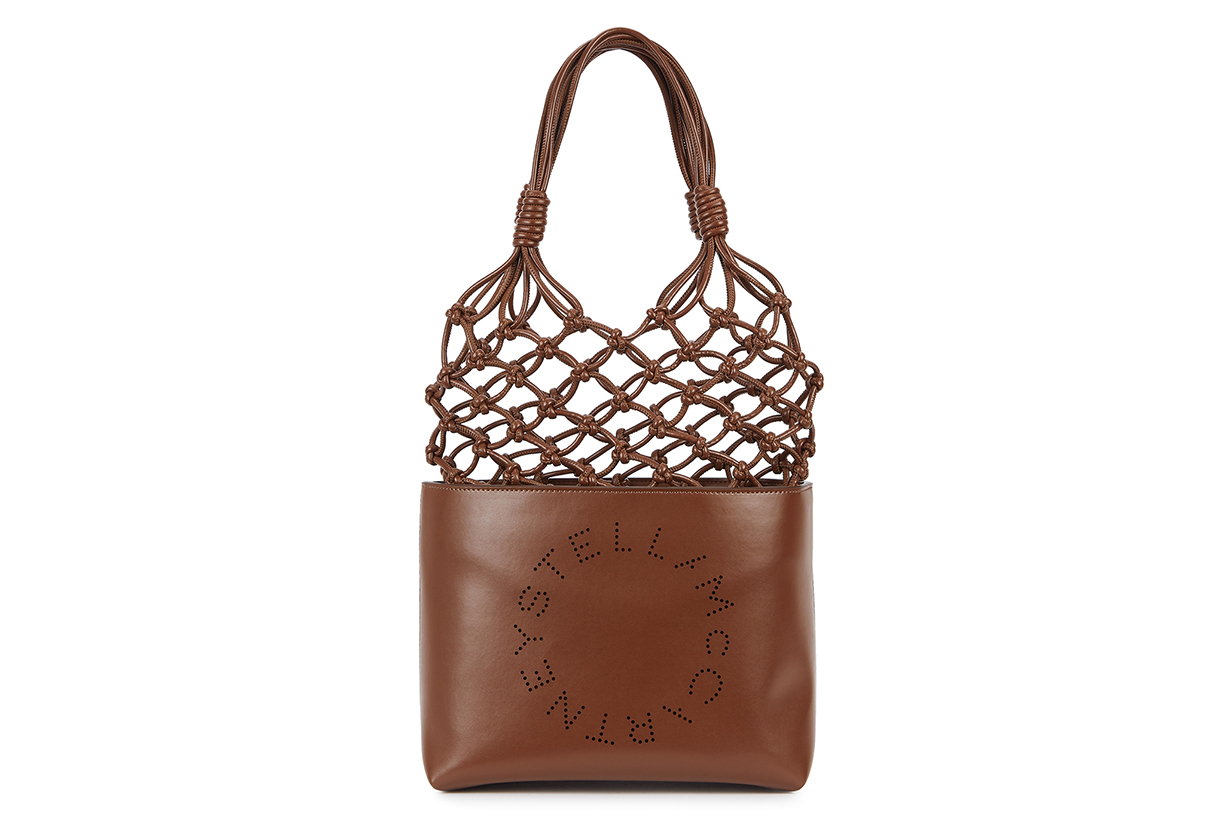 STELLA MCCARTNEY Brown faux leather tote