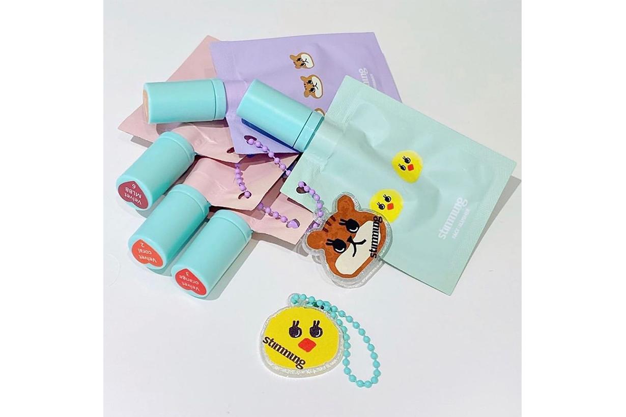 Stimmung Margarin Fingers Collaboration Lip Tint Cheek Blush Highlighter Shimmering Korean Cosmetics Makeup Fashion Brand