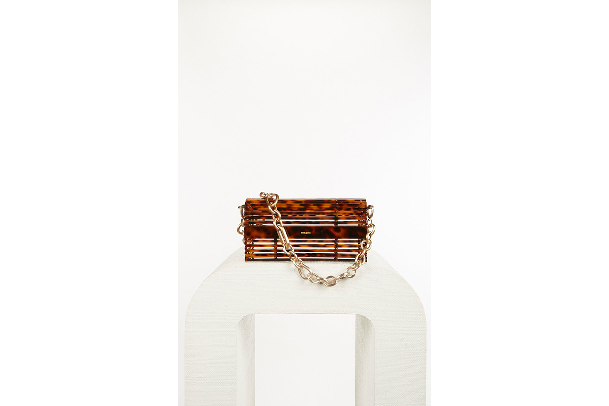Sylva Caged Acrylic Shoulder Bag