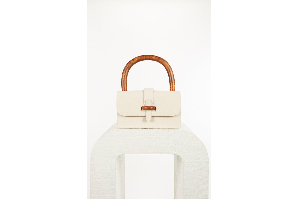 Tate Contrasting Leather Top Handle Bag