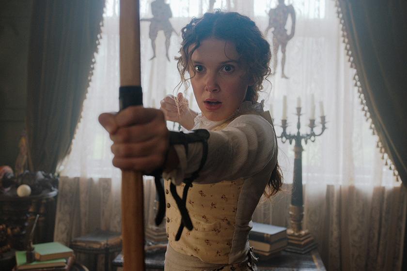 Millie Bobby Brown Henry Cavill Netflix Movie Enola Holmes