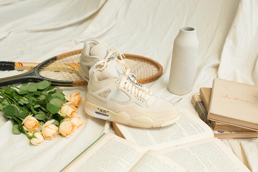 Off-White x Air Jordan 4 sail release date