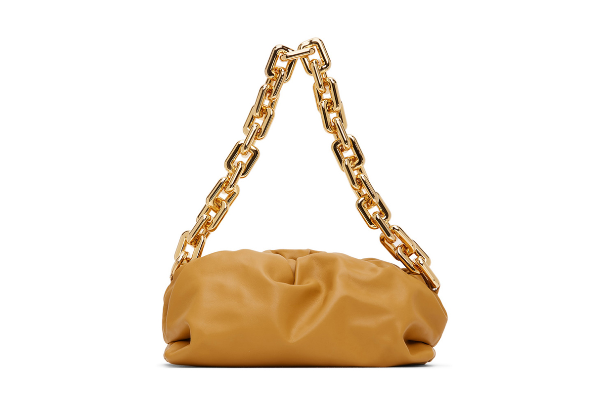 Bottega Veneta Yellow 'The Chain Pouch' Clutch