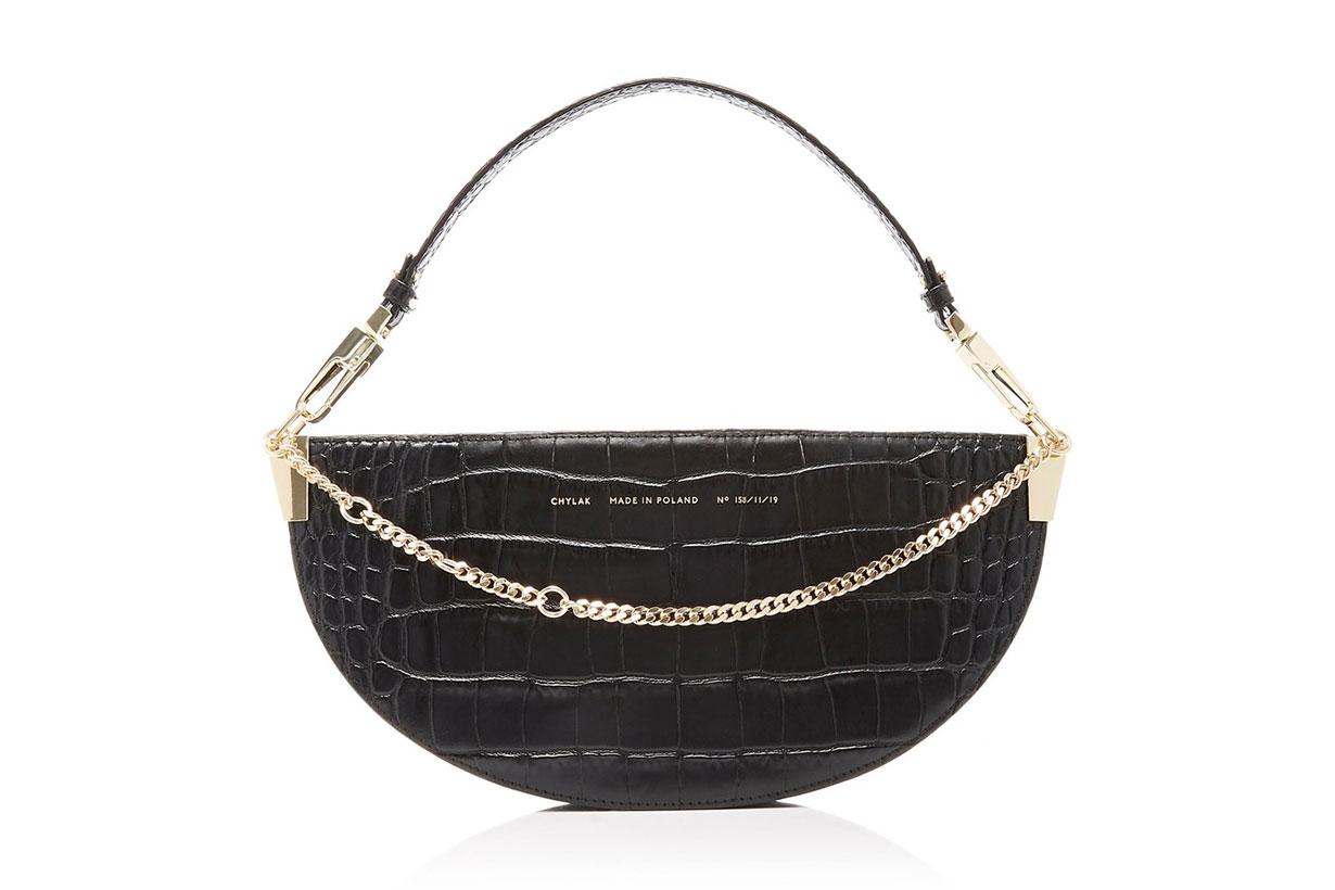 Chylak Embellished Croc-Effect Leather Shoulder Bag