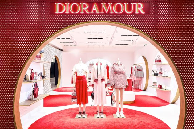 dior amour limited collection polka dot where taipei pop-up