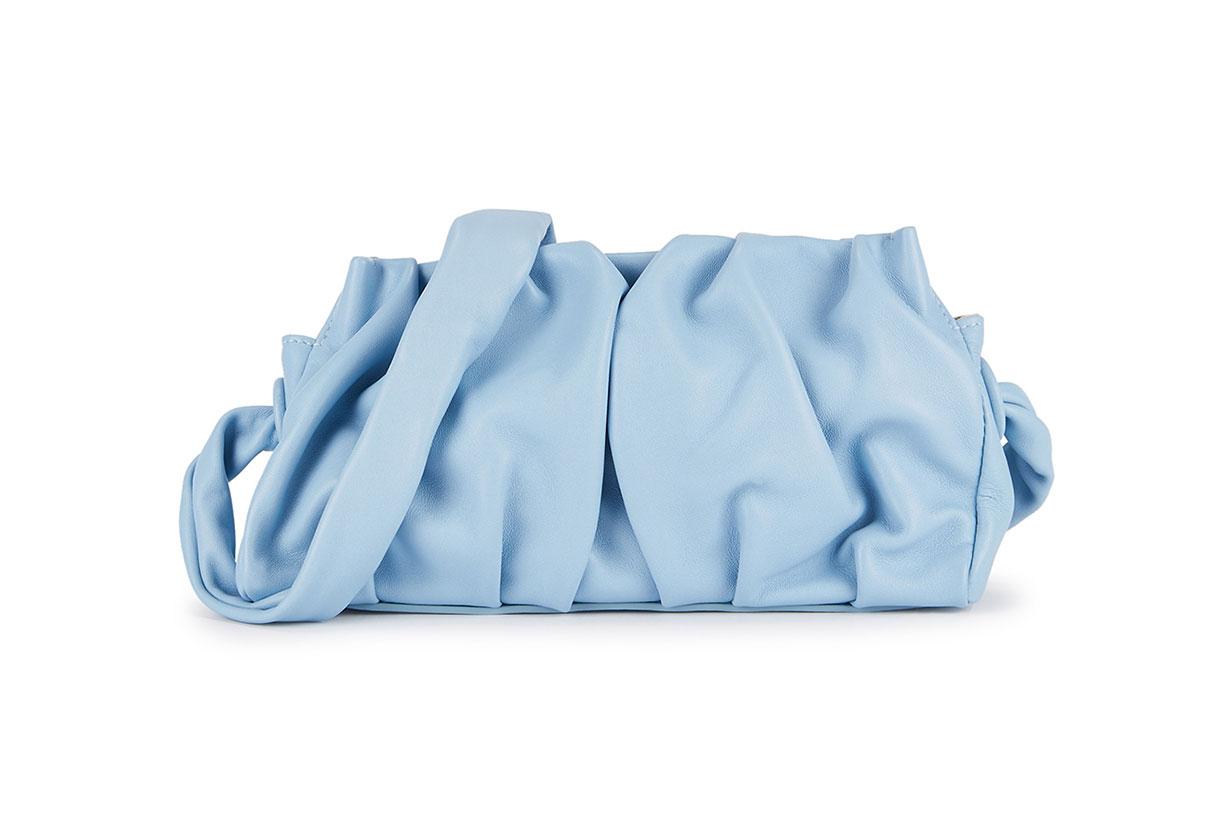 ELLEME  Vague light blue leather shoulder bag