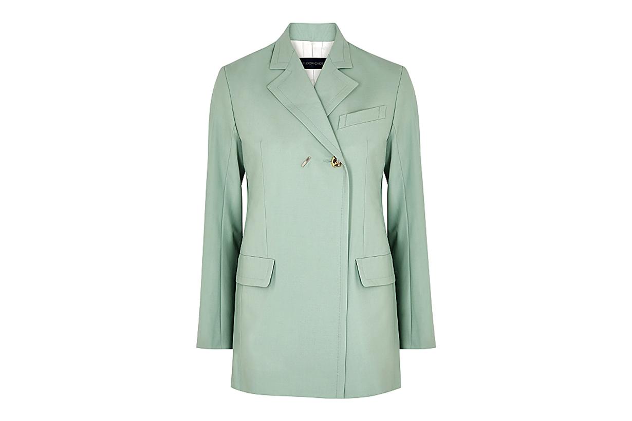 EUDON CHOI Mairin mint stretch-wool blazer