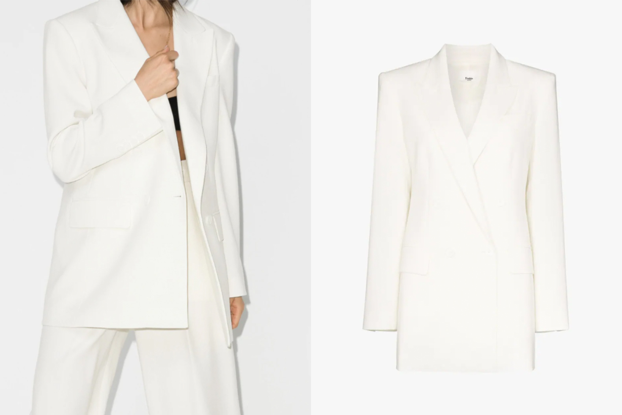Frankie Shop Elvira Double-Breasted Jacket