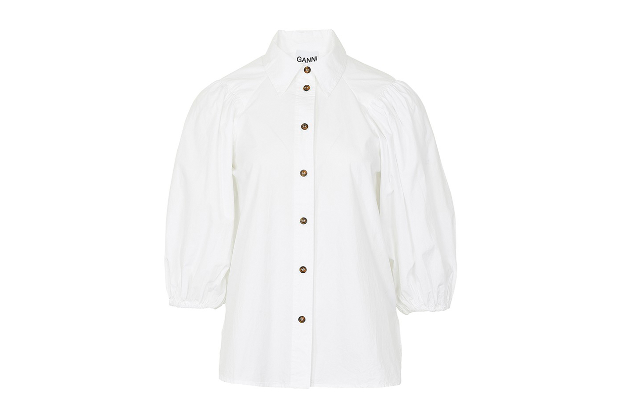 GANNI Cotton poplin shirt